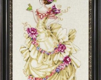 Mirabilia Designs - Ella, The Frog Princess MD-129 by Nora Corbett - Beaded Counted Cross Stitch Pattern