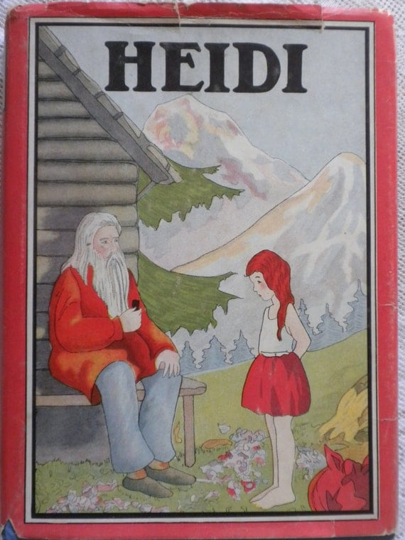 Heidi Vintage Book By Johanna Spyri Illustrated Whitman