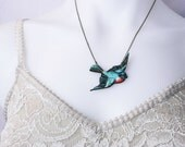 Sparrow Necklace / Bird Necklace / Laser Cut Necklace / SAMPLE SALE