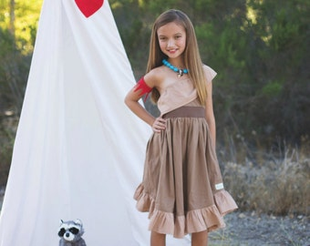 Pocahontas - Everyday Princess Dress - Character Inspired Dress - Sizes 6/12months to 9/10