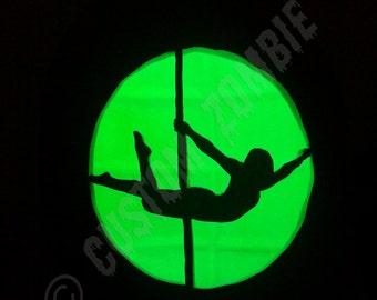 Pumpkin Stencil - Pole Dancer - Superman Pole Trick - Carving, Crafts Downloadable