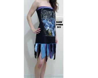 SALE Decrepit Birth Death Metal Dress DIY Band Shirt Size M