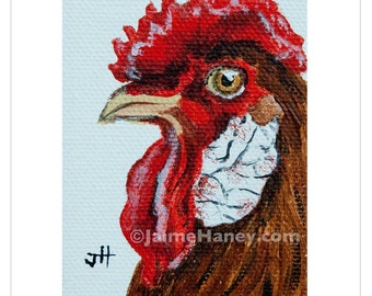 Good Day to be a Rooster painting 8x10 print