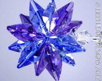 M W Swarovski Crystal Clear Flower Octagon By