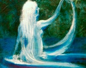 Irish Banshee - Original Art - folk tales and myths - Celtic tales - River Ghost.