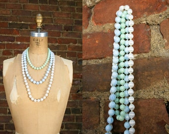 Vintage Layering Necklaces Lot - Pastels