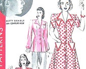 Vintage 1940s Hollywood Pattern 766.    Bust is 32 and Hip is 35 inches.