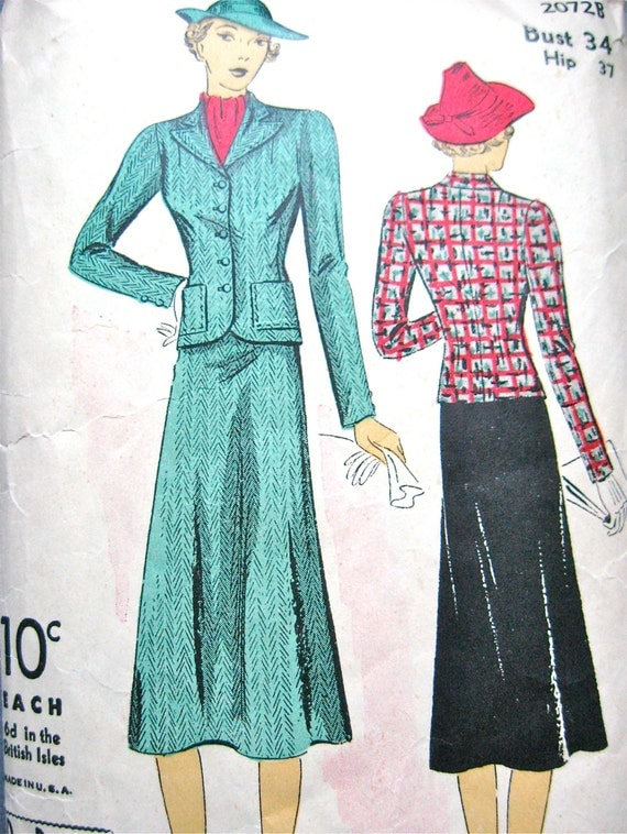 Vintage suit 30 s