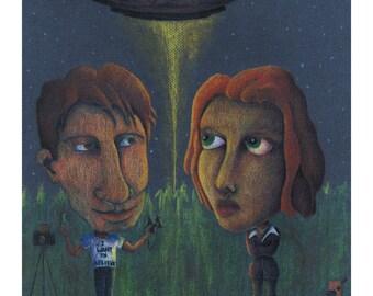 PRINT - X-Files Illustration