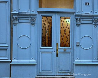 Paris Photography, Blue Doors of Paris Wall Art, Paris Blue Doors Prints, Paris France doors, French Doors Architecture, Paris Door Photos