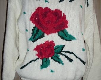 Vintage  Rose Sweater by BRAMBLE LANE