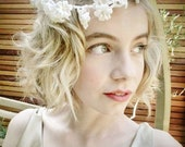1950s Ivory Wax Flower Bridal Circlet plus Original Box!