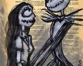 Dictionary Painting LOVE Print by Undead Ed