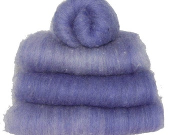 Violet Heather Shetland Spinning Batts - 4 ounces