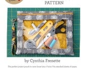 Sewing pouch with clear vinyl window pattern by Cynthia F