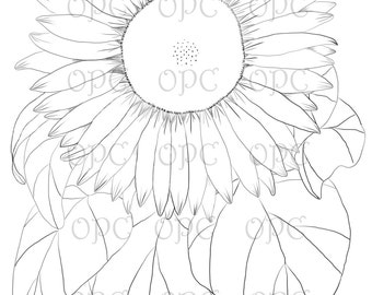 Digital Stamp Sunflower