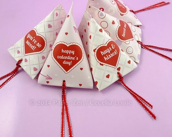 Printable Valentine Party Gift Favor Boxes - 5 DIY PDF Patterns