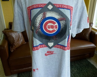 Chicago Cubs 1991 Nike Just Do It vintage tee shirt - grey t-shirt size large