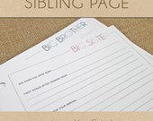 Sibling Page  - Include in your Two Giggles Baby Album