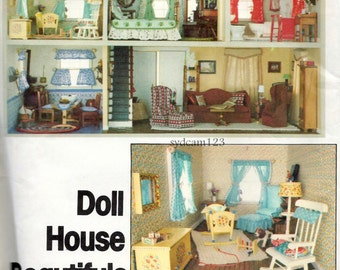 Vintage 1970s Doll House Beautifuls Pattern Furniture and Home Accessories 1977 Vogue 1772 UNCUT