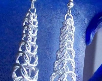 Chainmaille earrings. Sterling silver/ Silver plated / gold plated/ copper