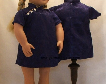 Oriental dress in purple fits American Girl dolls and other 18 inch dolls