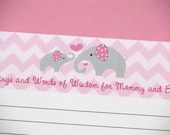 Elephant Baby Shower Advice and Well Wishes Cards -25