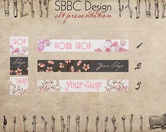 Shop Banner Avatar Starter Pack Floral