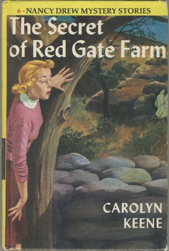vintage nancy drew the secret of red gate farm mystery book. Black Bedroom Furniture Sets. Home Design Ideas