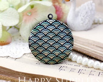 New Technology - 1pcs 33mm (PL-33-482) Handmade Antique Bronze Brass Photo Locket Pendant / Charm