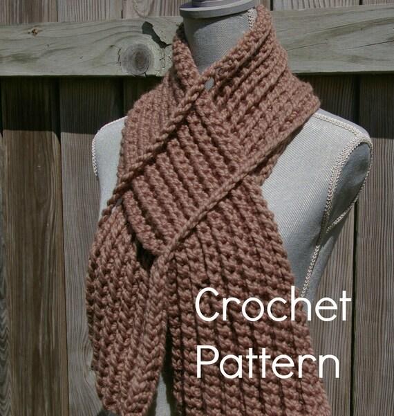 Crochet Pattern Keyhole Scarf Instant Download