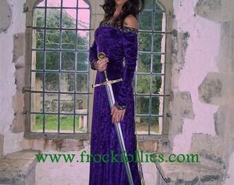 "Medieval Gown, Elvish Dress, Pagan Wedding Dress, Gothic Dress, Medieval Wedding Dress, Handfasting Dress, ""Lucretia"""