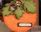 Thanksgiving Pumpkin Shaped Card, Stampin Up Autumn Days