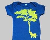 Elephant Tree Organic Onesie Blue