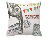 Pillow Cover Circus Elephant