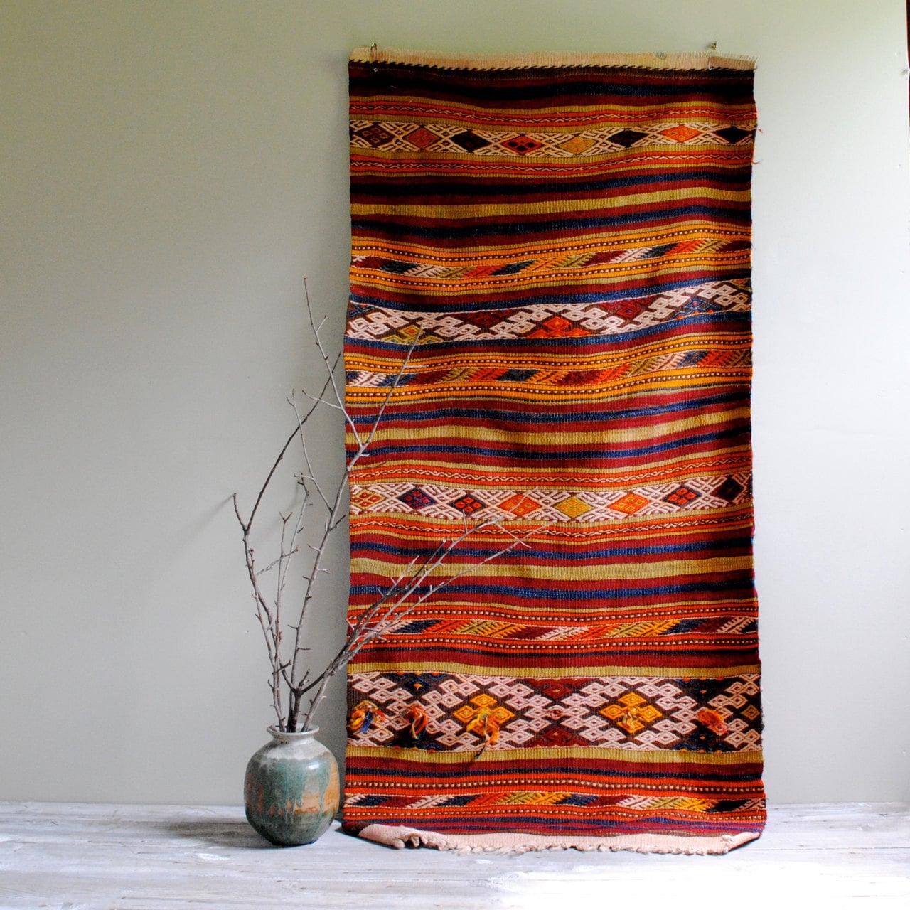Vintage Turkish Kilim Rug From Sivas City / 5' X 2.5