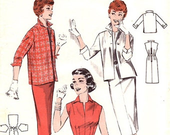 Butterick 7245 // Vintage 50s Sewing Pattern // Dress and Jacket // Size 12