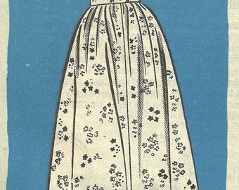 Vintage 50s Mail Order Sewing Pattern / Marian Martin 9104 / Dress / Size 12 Bust 32