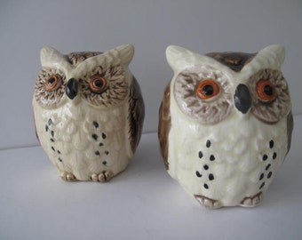 Vintage Owl Salt and Pepper Shakers from Japan
