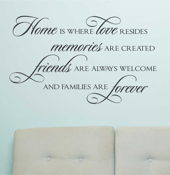 Home Love Resides Quote Vinyl Wall Lettering Vinyl Decals