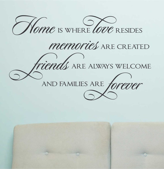Forever Love Quotes And Sayings: Home Love Resides Quote Vinyl Wall Lettering Vinyl Decals