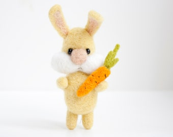 needle felted bunny  brooch, made to order