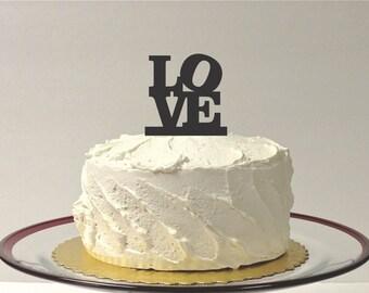 MADE In USA, Love Cake Topper Wedding Cake Topper Acrylic Wedding Topper Classic Wedding Cake Topper Wedding Decoration Keepsake