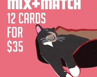 Mix & Match 12 cards