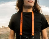 Custom Leather Camera Strap - DIY - Design your own - Personalize with text, design, stain color and hardware - Made to Order by Mesa Dreams