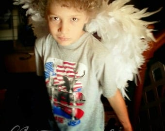 Angel Wings Archangel White Feather Wings for Bridal Wedding Cosplay LARP Halloween Costume Convention Fair Faire Festival Faery Fairy