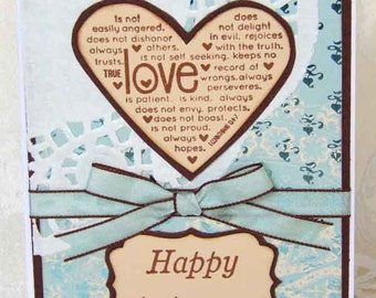 Happy Anniversary Love 1 Corinthians 13-4-7 Card