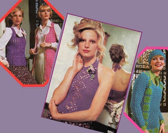 1970s Vintage Boho Crochet Patterns Booklet Patons 357 from Australia ORIGINALS NOT PDF
