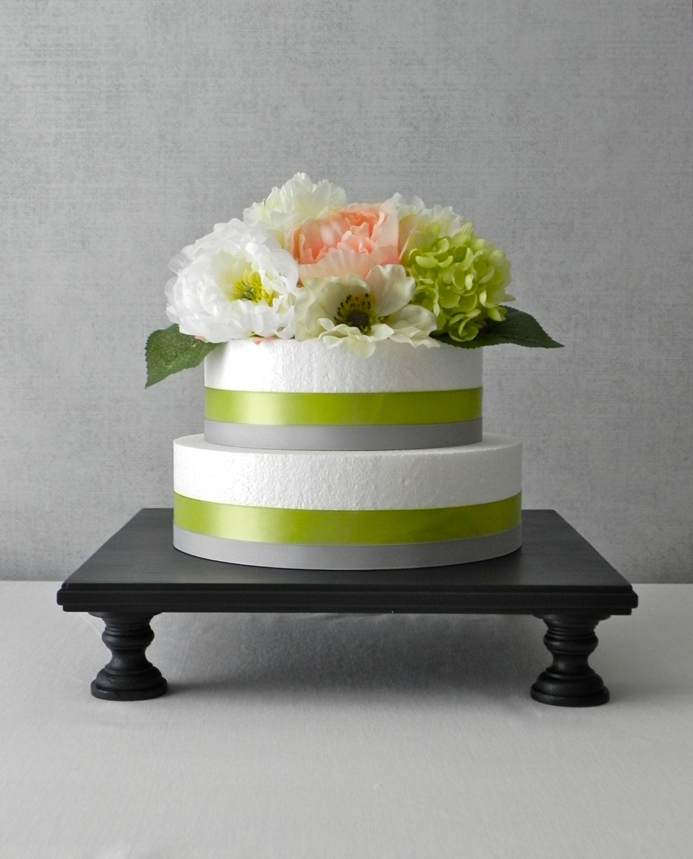 14 Cake Stand Cupcake Stand Black Square Grooms Cake