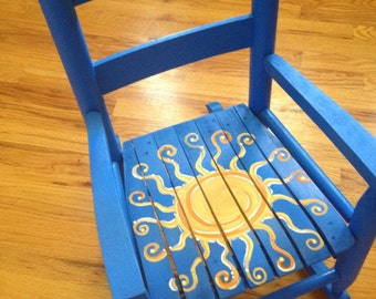 Sun Rocking Chair - Outer Space Chair - Kids rocking chair